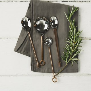 UK Selbrae House Copper Metal Premium Small Spoon Gift Set (set of four) - Spot