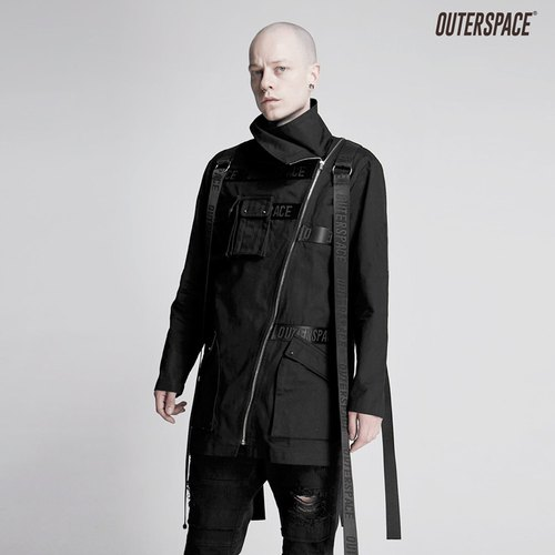 OUTER SPACE PUNK Ribbon Collar Coat
