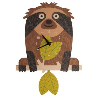 Modern moose-3D-TREE SLOTH CLOCK