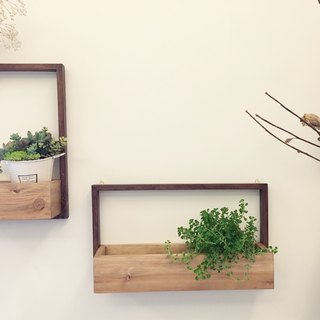 (Potted) Landscape drying Dry on the Wall (wall B) with foliage plants (village wind healing gift)