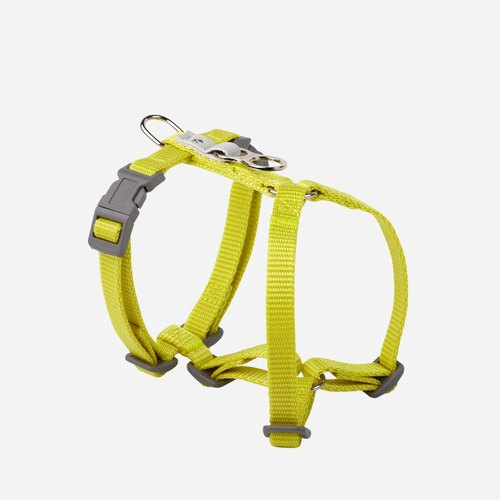 [Tail and Me] Classic Nylon Strap with Lime Yellow XS