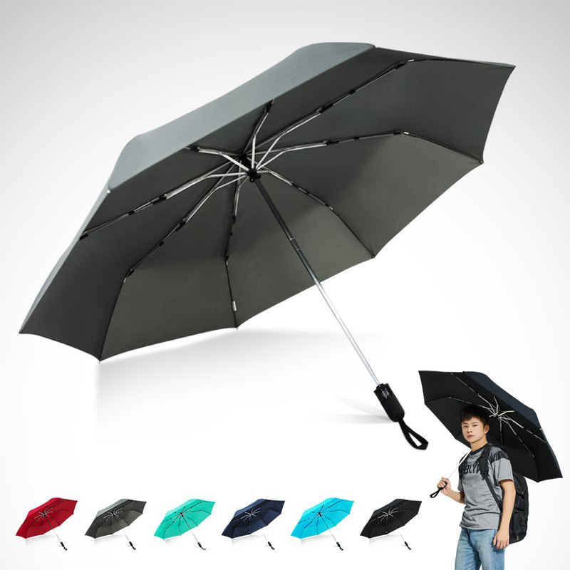 TDN省力回壓極簡超撥水自動開收傘超大防風雨傘(中灰)