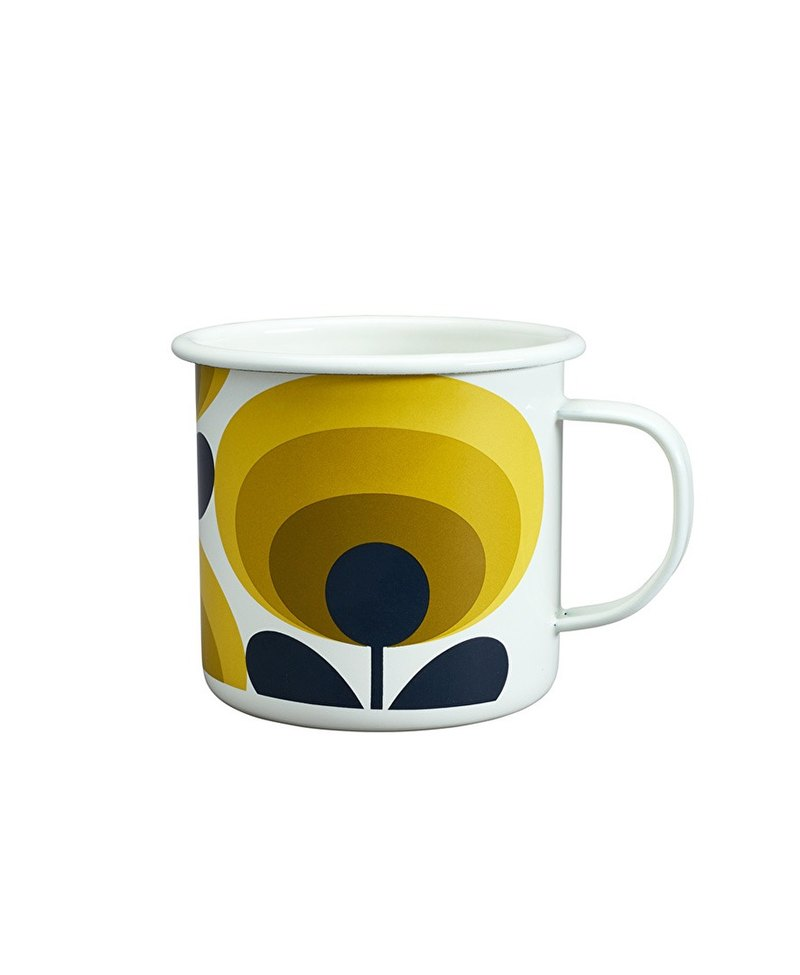 SUSS-UK imports Wild&Wolf and OrlaKiely joint design 珐琅 mug (sunflower)