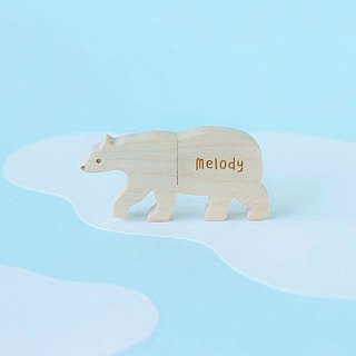 CUSTOMIZABLE Wooden Animal USB Flash drive - Polar bear