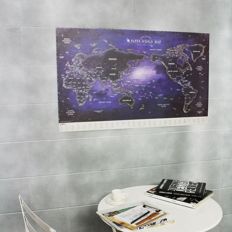 Indigo - World Map Poster (Revised - Leaflet)-06 Nightlight Edition, IDG70381