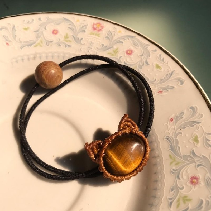 【Lost And Find】Natural tiger eye hair band/ bracelet