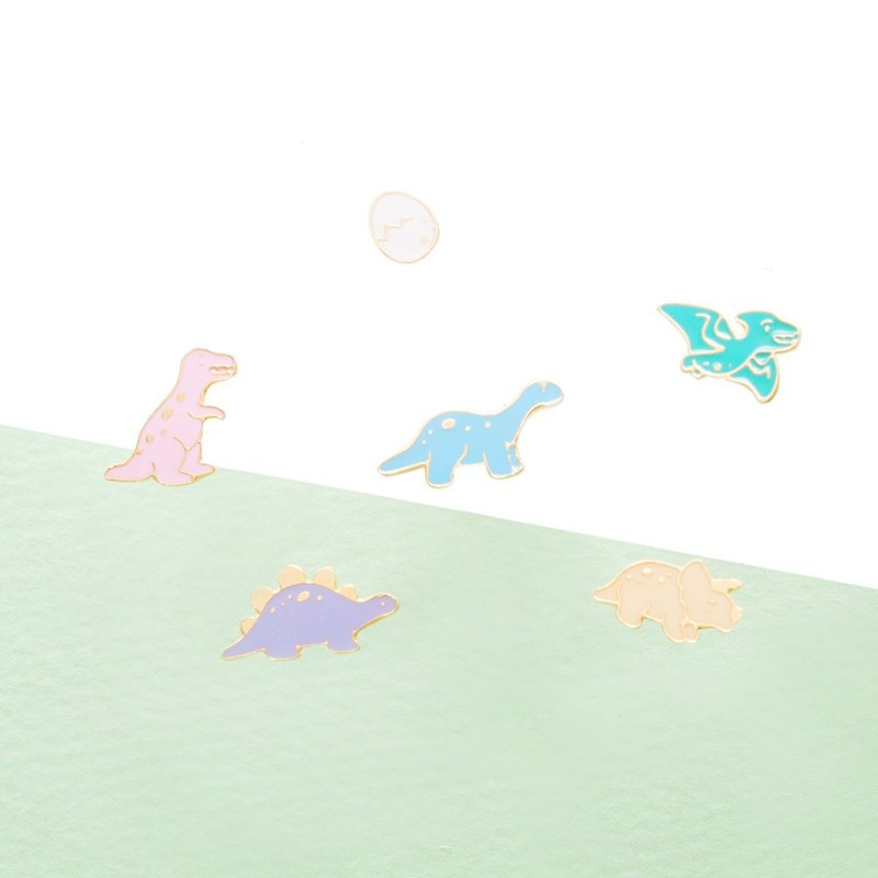 Dinosaur Plus Egg - Mini Jurassic Series Handmade Ear Pin