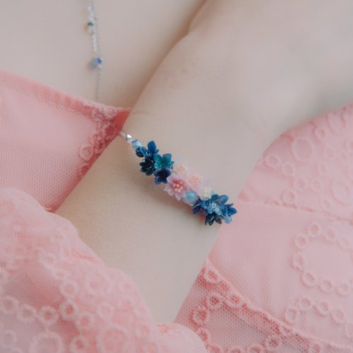 Pamycarie Night-Sakura Crystal Bouquet Bangle