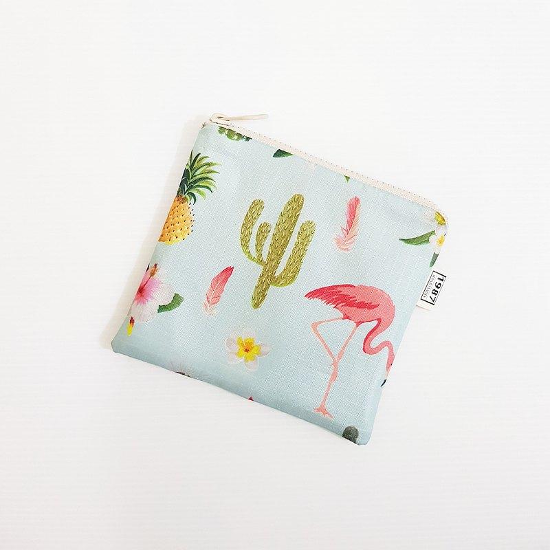 【仙人掌】 口罩收納袋 衛生棉包 零錢包 化妝包 雜物包 拉鏈袋