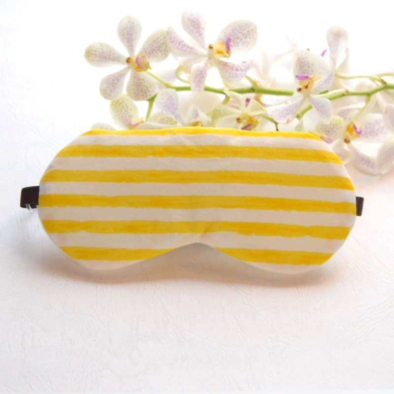 Scratched Stripe /Yellow/eye mask /with a free bag/ customizable/trip/sleep mask