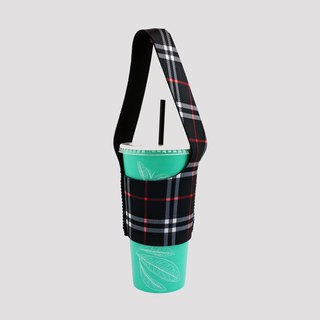 BLR eco-friendly beverage bag bag I walk TU02 black check pattern