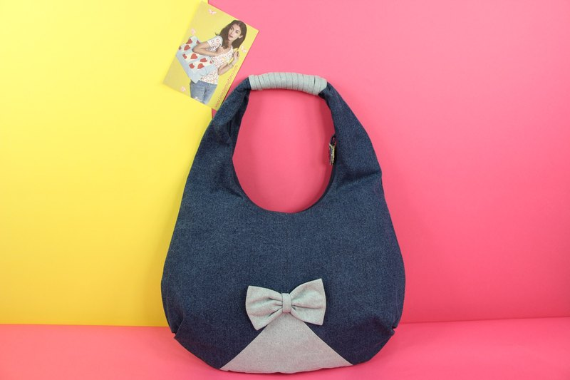 Sweet Words Denim Handbag