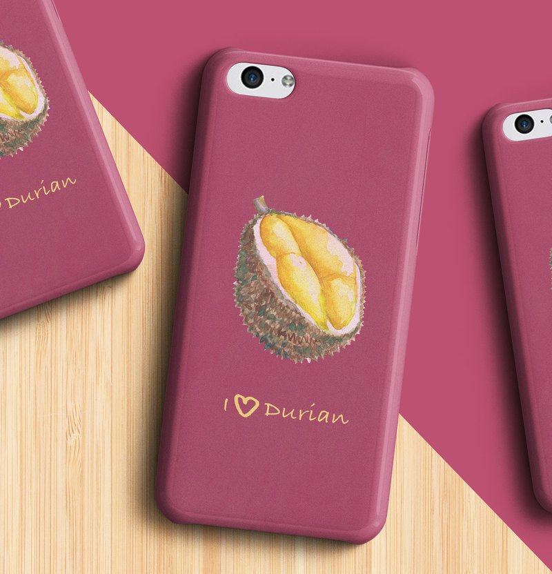I love durian - Phone case