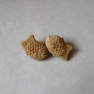Brooch of Taiyaki, 2 rows