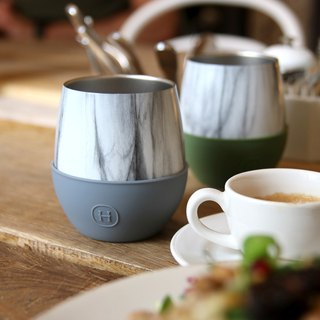 Morandi color system | American HYDY double layer insulation mug | Marble pattern-2 into the group