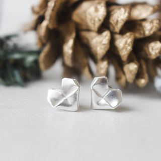 Sterling Silver Heart Earrings Babes Size