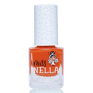 British [Miss Nella] children's water-based tear-proof safety nail polish - poppy orange (MN14)