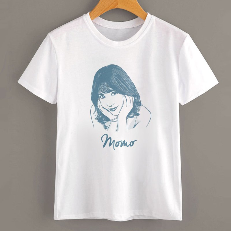 Customized character pet painting / short-sleeved T-shirt (simple style)