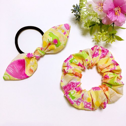 Summer color donut bowel hair ornaments bow hair accessories a group of two
