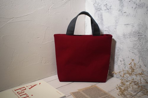 Pastoral Series Tote Bag/Canvas Bag/Limited Handbag/Burgundy/Pre-order