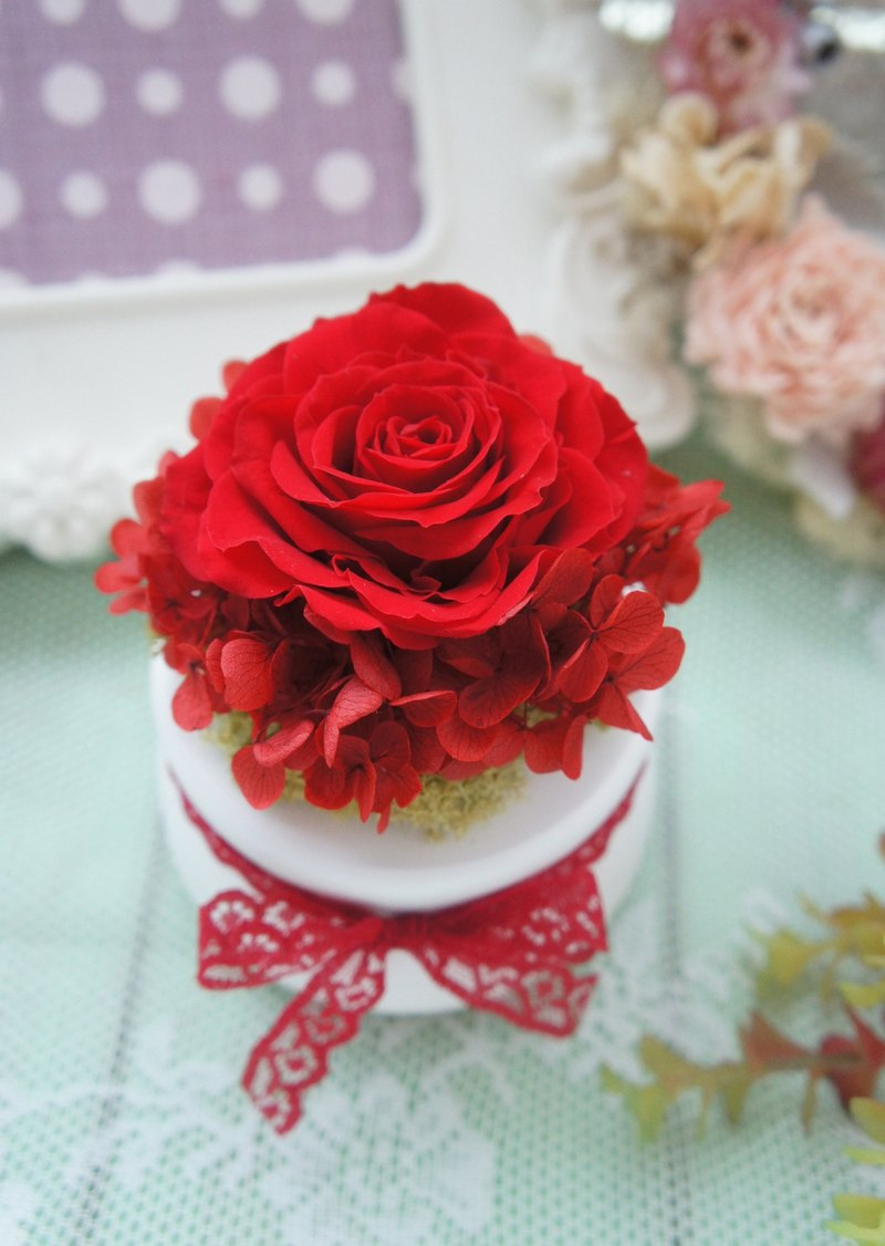 Love you. Rose soulful music bell / Red Rose subsection (wedding gifts / wedding decoration / birthday gift) ~