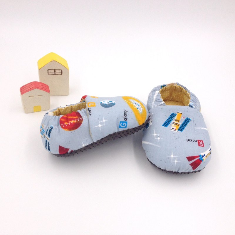 Space Planet (Gray Base) - Toddler Shoes / Baby Shoes / Baby Shoes