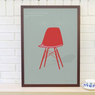 Nordic classic furniture poster Eames Plastic Side chair original custom without frame