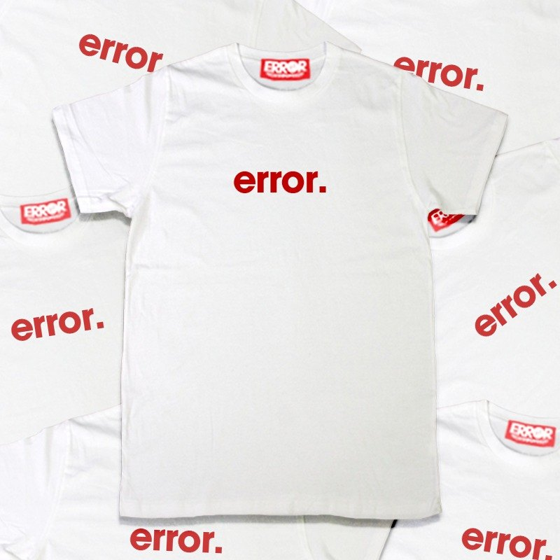 Basic Error Tee White