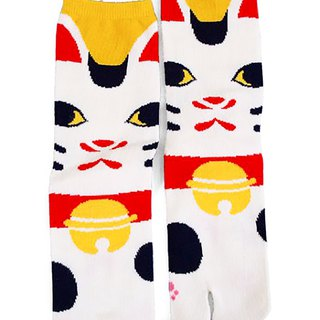 Pre-order Lucky Cat Two-finger Socks - Medium Length 7JKP2112