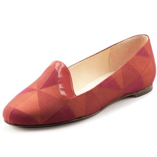 T FOR KENT|EASY ON  flats (Red Check)