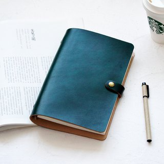 Dark green uniform dyeing A5 A6 A7 loose-leaf notebook handbook diary diary leather notepad