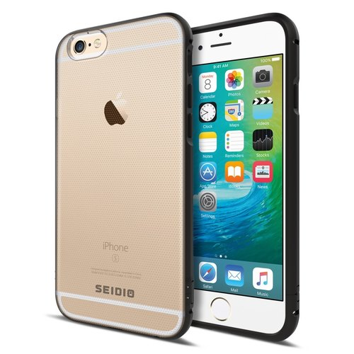 Minimalist Transparent Back Cover Metallic Protection Box / Mobile Phone Box for iPhone 6 (s) / 6 (s) Plus - Bronze Brown -TETRA ™ Series