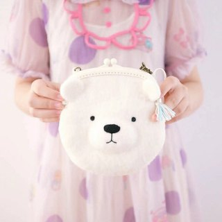 After school, hand workshop planetbear white bear bag wool felt DIY kit