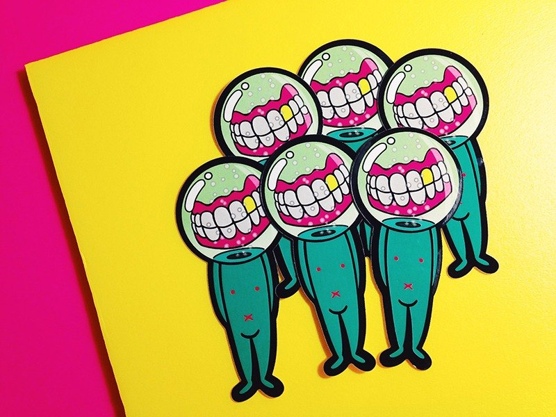 Space denture / sticker