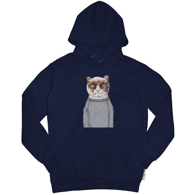 British Fashion Brand [Baker Street] Angry Cat Printed Hoodie