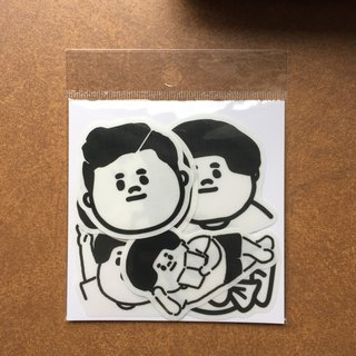 介太款5cm waterproof transparent sticker (7 in)