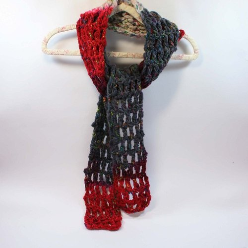 Knitted hand-woven scarves - pure wool 04