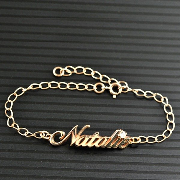 Customized .925 sterling silver jewelry BRA00008-4.5CM name bracelet / anklet