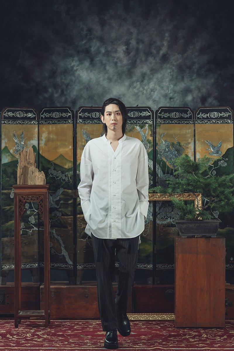 中式立領白襯衫(201T01)