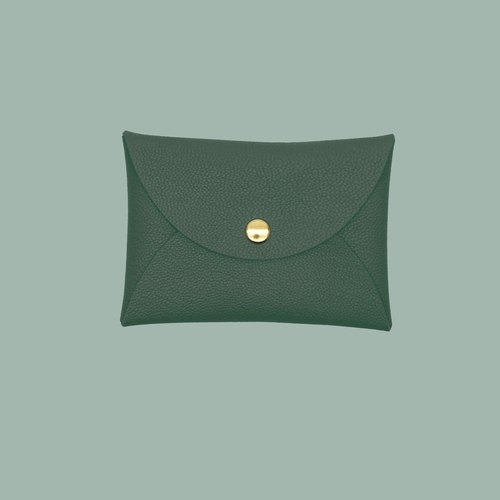 Multi-color genuine leather macarons dark green card holder/wallet/card holder/card case