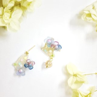 [Atelier A.]Christmas Selected Floral Pigeon Earrings