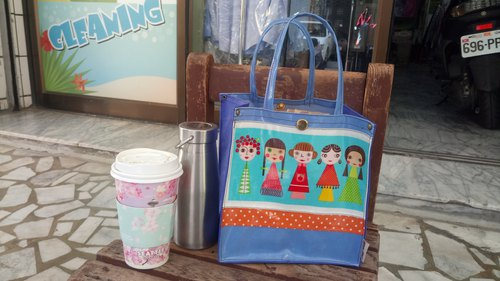 Cute Q sister waterproof tableware bags