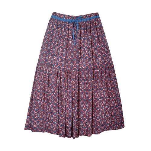 Ángeles - big girl - waist color printed trousers skirt