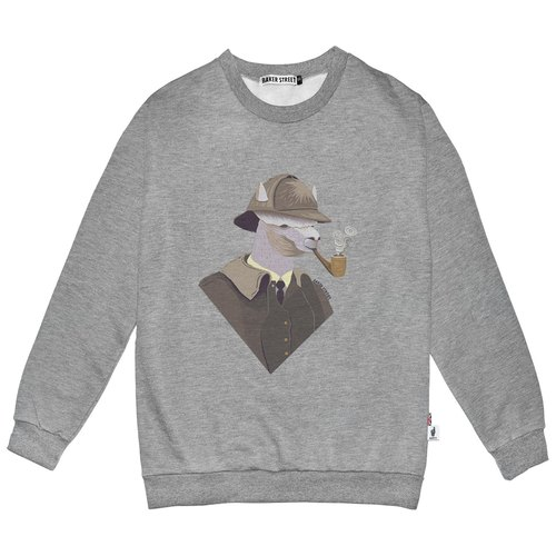 British Fashion Brand -Baker Street- Sherlock Holpaca Printed Sweater