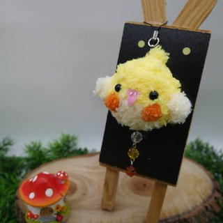 Wool woven soft mobile phone strap can be changed key ring charm - Xuan Feng