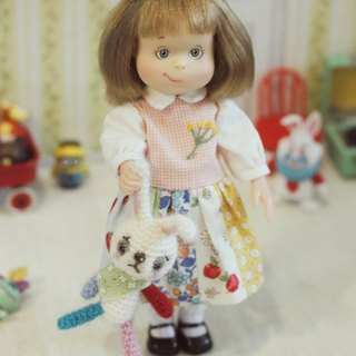 Hand-knitting bunny doll pins. Suitable for shooting props like 1/6 dolls like blythe,holala