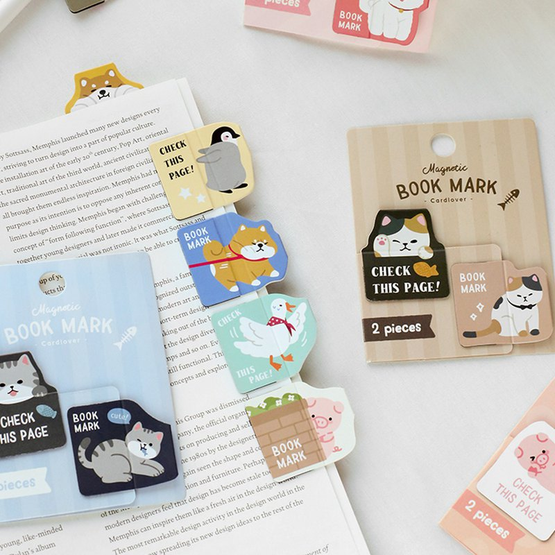 Letter lover magnet bookmark probe small animal cute animal cat magnetic bookmark creative stationery student