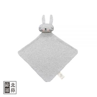 Mister Fly Cute Animal Doll Comforting Towel - Grey Bunny