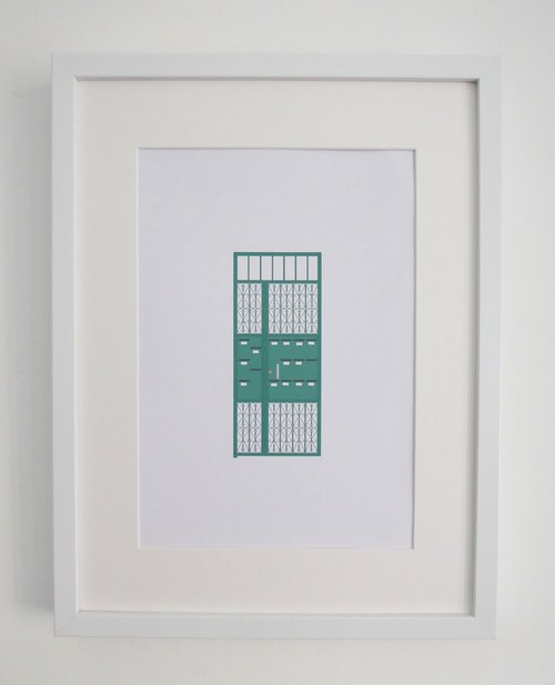 Hong Kong Art Print A4 size Door Series by City of Detail - Perfect Art Print For your Home!