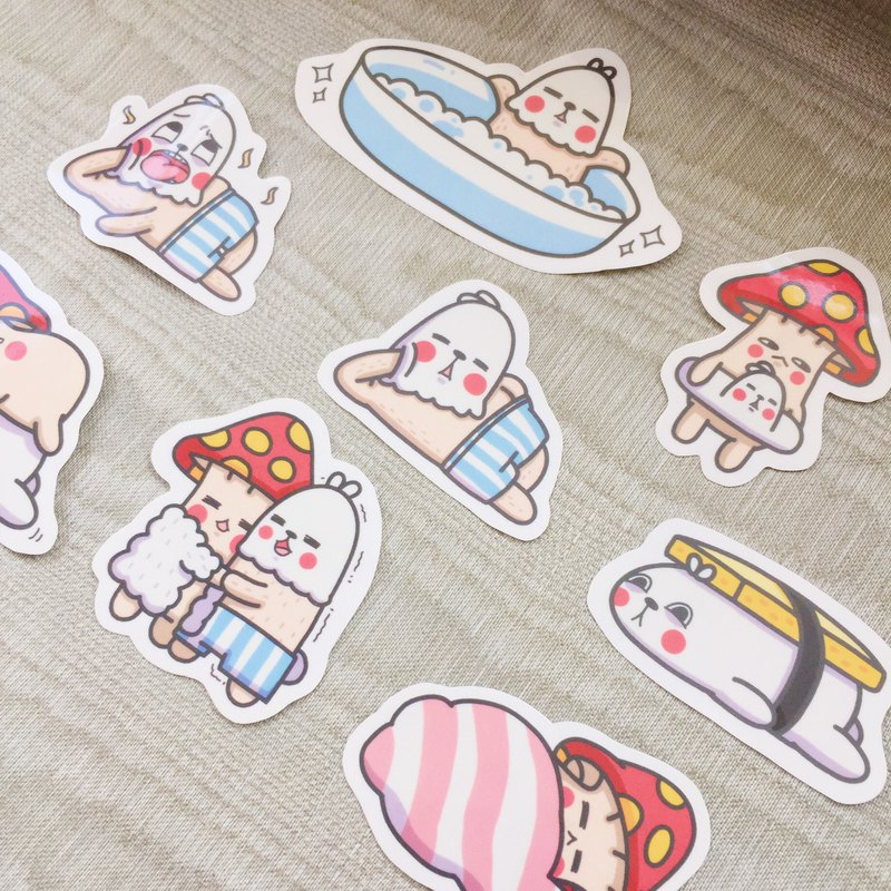 Mushroom House Daily - Waterproof Sticker Pack